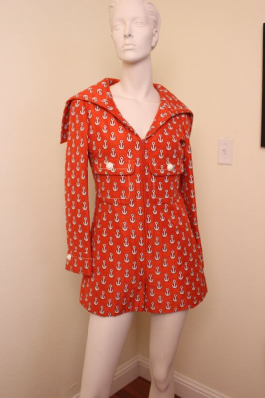 james GALANOS iconic silk whimsical sailor suit