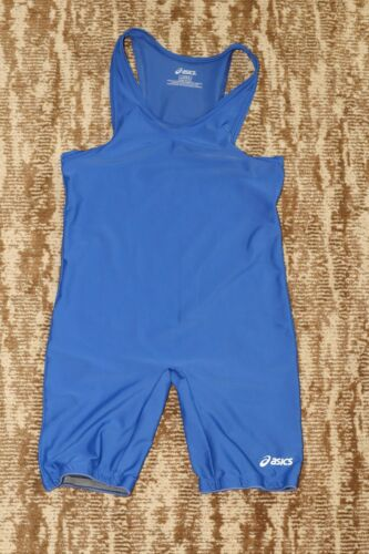 ASICS Wrestling Singlet Adult Large Jersey tournament Gear made in USA solid