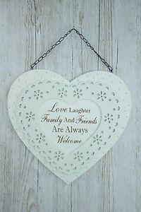 PLACCA-Cuore-Amore-risate-amici-di-famiglia-sono-sempre-graditi-Ex-Large-f1668a
