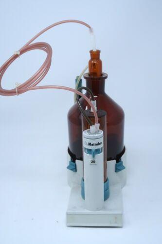 Brinkmann Metrohm 20mL Exchange Unit Glass Bottle, Titrator Accessory 4.739.0100