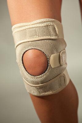 Neopren-kniebandage (Kurze Neopren-Kniebandage mit integriertem Silikonring und Patellaaussparung)