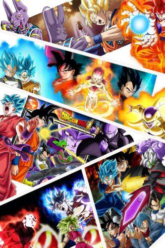 Dragon Ball Super Poster Goku Blue Golden Frieza 12in x 18in Free Shipping