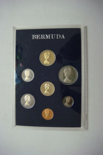Bermuda 7 Coins 1983 Proof Set Collection Royal Mint with plastic Case