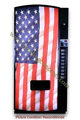 Dixie Narco 501-e American Flag Drink Vending Machine