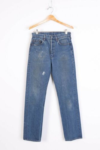 VTG LEVIS 501 Button Fly High Waisted Boyfriend Denim Jeans USA Womens 29x33