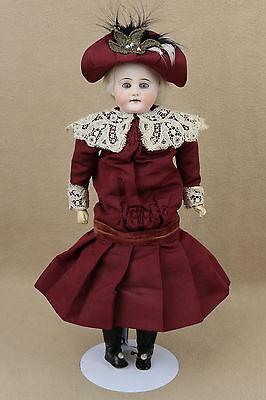 """14"""" old antique bisque shoulder head German Doll 1890s"""