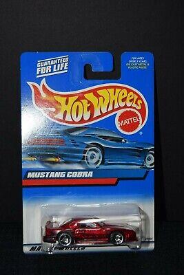 Hot Wheels 1998 Ford Mustang Cobra. Rare,HTF! All Metal. India Base #121.