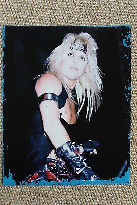 Motley Crue Vince Neil Original Shout At The Devil Photograph 1983 1984 SATD