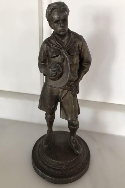 antique Boy Scout statue