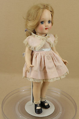 """14"""" vintage hard plastic Ideal Toni Doll P-90 Doll with tagged dress"""