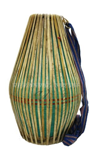 New Green Professional Mridangam/ khol made of Clay with free cloth cover