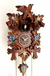 cuckoo clock black forest quartz german wood batterie clock handmade new painted