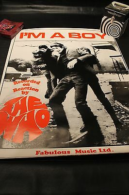 "The Who I'm A Boy  Promo Poster ORIGINAL FULL SIZE 25"" x 33"""