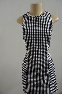 NWT WOMEN EXPRESS NAVY BLACK WHITE GINGHAM SIDE CUT OUT MINI DRESS SIZE - Side Cut Outs Mini