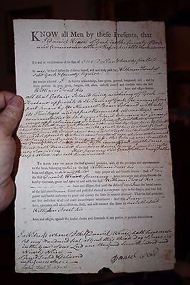 Original 1799/1800 Deed to the Boon Island Lighthouse Island York County Maine