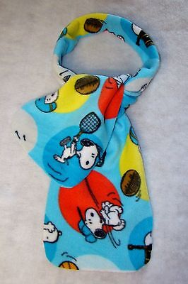 Snoopy Fleece Fabric (New Blue Snoopy Playing All Types of Sports Scarf Fleece Fabric 60