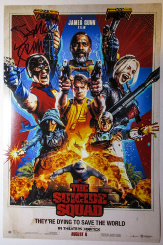 James Gunn Director Signed 'The Suicide Squad' 12x18 Poster Photo PROOF ACOA B
