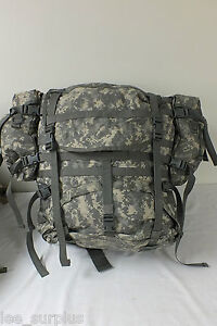 MOLLE-II-LARGE-RUCKSACK-FIELD-PACK-ACU-COMPLETE-SET-UP-US-Military-Issue-VG-EXC