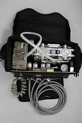 New Portable Dental Unit W Air Compressor Suction System 3 Way Syringe Black