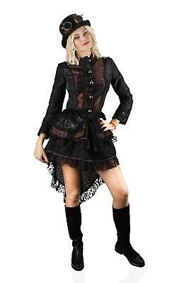 Hochwertige Steampunk Damen Jacke Gothic Kostüm Köln Karneval Fasching 36-54