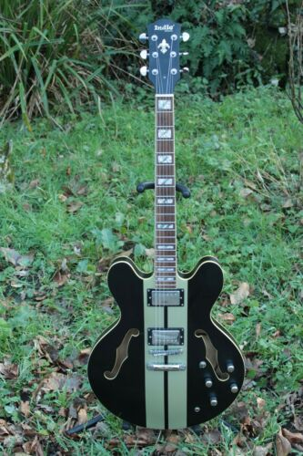 Indie Guitar ~ Custom Semi Hollow Electric . ES335 Style Korean 2008 + Hard Case