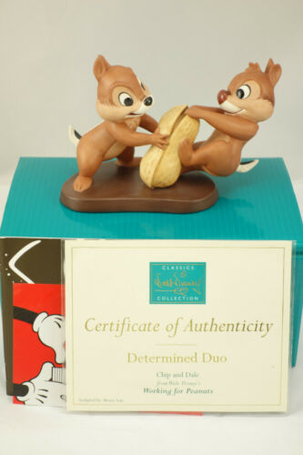 """WDCC Walt Disney Chip & Dale Working For Peanuts """"Determined Duo"""" MIB COA"""