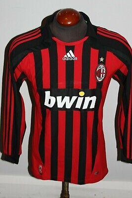 PREOWNED ADIDAS MENS 2007 AC MILAN ITALY  SOCCER FOOTBALL JERSEY #22 KAKA SMALL