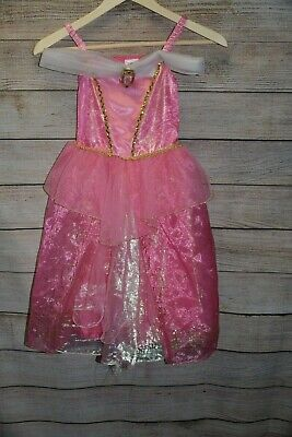 DISNEY STORE 5 6 PRINCESS SLEEPING BEAUTY AURORA PINK GLITTER GOLD DRESS - Aurora Gold Kostüm
