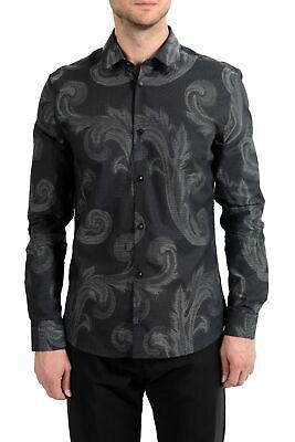 "Versace Collection ""Trend"" Men's Graphic Long Sleeve Dress Shirt"