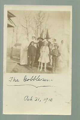 Belgrade MINNESOTA RP 1910 HALLOWEEN COSTUMES Witch Ghost TRICK OR TREAT Goblins - 1910 Halloween Costumes
