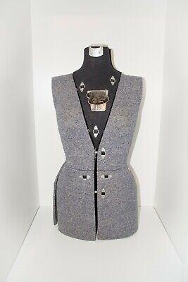 Vintage 1950s Sally Stitch Push Button Dress Form Size B Mannequin - No Stand