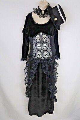 Women's Underwraps Size Large 3 Piece Dark Mistress Costume Outfit Halloween