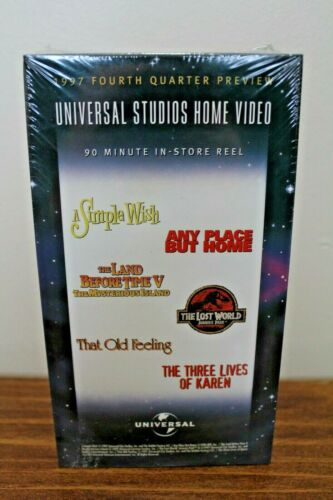 Universal Studios 1997 In Store Reel Preview VHS TAPE PROMO NEW JURASSIC PARK