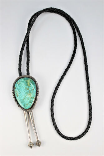 Vintage Turquoise and Sterling Silver Bolo Tie #2