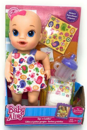 Hasbro Baby Alive Sips N Cuddles Blonde Model Doll