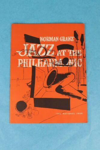 VTG 1953 NORMAN GRANTZ JAZZ PROGRAM SIGNED BENNY CARTER FLIP PHILLIPS RAY BROWN