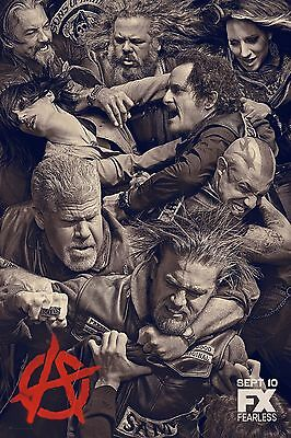 Sons Of Anarchy Season 6 Fx Tv Poster  24X36    Charlie Hunnam  Katey Sagal New