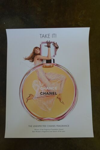 """22""""x28"""" Chanel Anne Vyalitsyna Jean-Paul Goude perfume Advertising Poster Ad"""