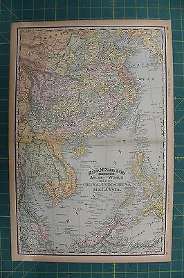 China Vintage Original 1894 Rand McNally World Atlas Map Lot