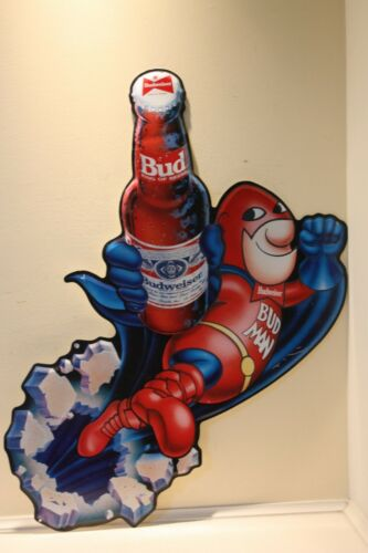 1989 Budweiser Bud Man Advertising Sign