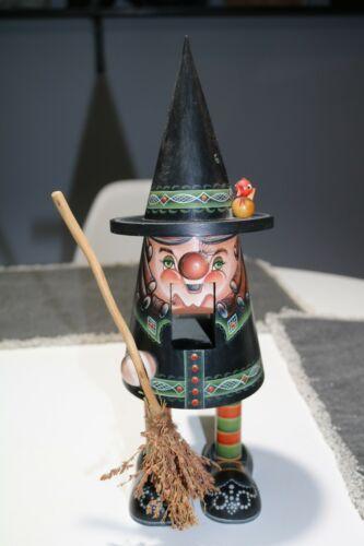 Witch Nutcracker Made by Local Artist - Handmade
