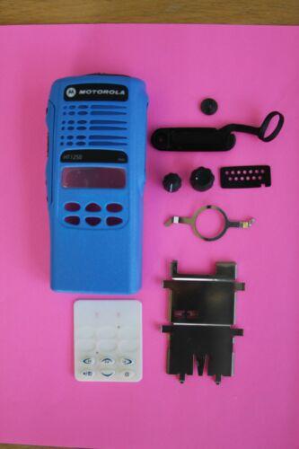 BLUE Motorola HT1250 16CH (128 TOTAL) Channel Refurb Housing Kit