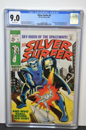 Silver Surfer #5 (1969) CGC Graded 9.0 ~ Stan Lee Story, John Buscema Cover, Art