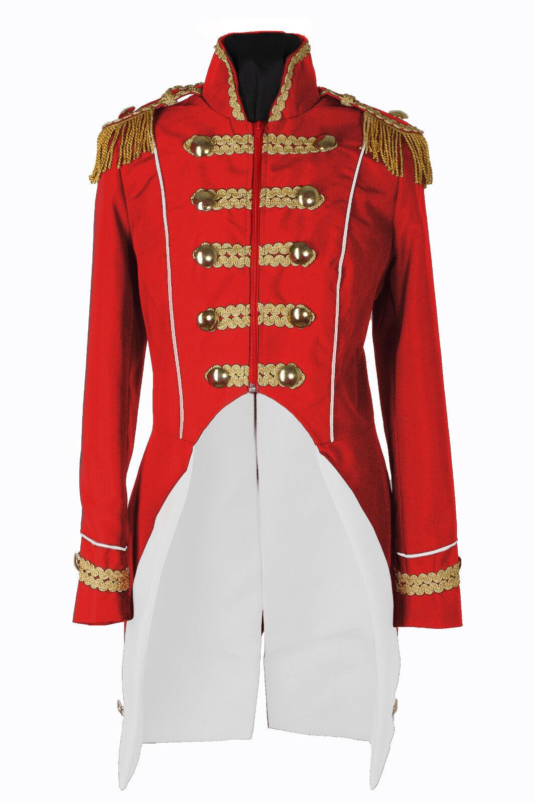 Karnevalskostüm Soldat Damen Jacke Uniform Fasching Gehrock Köln 36-54