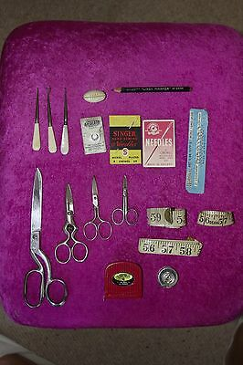 Vintage / Antique Sewing Items - Mixed Lot / Bundle