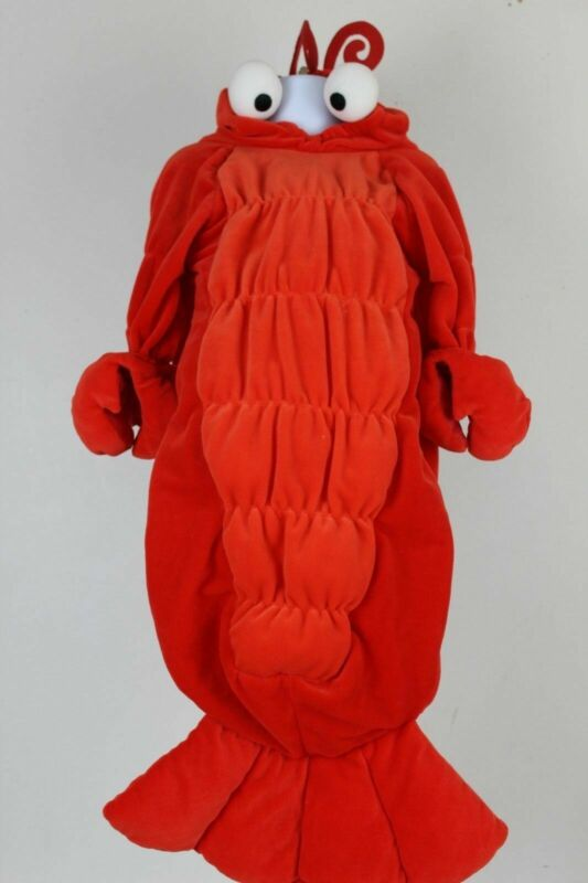 Shrimp Plush Halloween Costume Size 0-9 M Miniwear