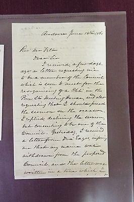 Rev. Austin Phelps ALS - 1860