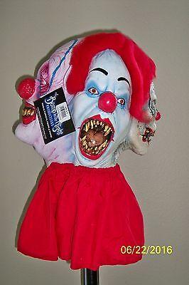 Erwachsene Clowneries um 4 Gesichter Böse Gruselig Clown Latex Maske Kostüm