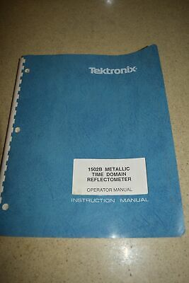 Tektronix 1502b Metallic Time Domain Reflectometer Operator Manual M55