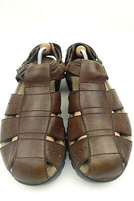 Mens Teva Fisherman Sandals Brown Waterproof Leather Sz 12 Style 6556